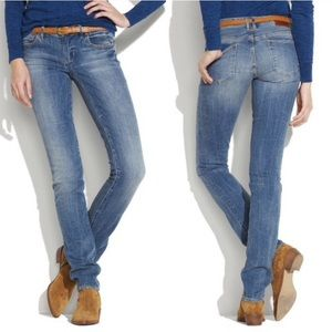 Madewell light wash rail straight jeans